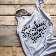 I'll be honest I'm so in love with this tank top. Can't wait for some sunshine so I can start wearing it! The products I create for The Simple Cup are things that I absolutely adore and it makes me that much more happy and excited to be sharing them with you all.   #encouragement #sunshine #quotes #screenprint #tanktop #racerback #fitness #motivation #inspiration #soulful #passion #smallbusiness #style #cute #thesimplecup #gray #shop #onlinestore #change #oneforone #entrepreneur #girlboss…