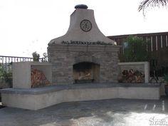 Fireplace with El Dorado Stone