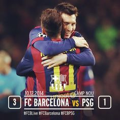 Final!! FC Barcelona v PSG (3-1) #FCBPSG #UCL 18' Leo Messi 40' Neymar Jr. 76' Luis Suarez Check out all about the match at http://www.fcbarcelona.com 10.12.2014