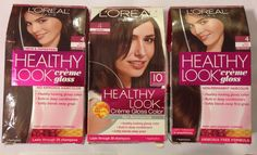 3 LOREAL Paris HEALTHY LOOK Creme Gloss Hair Color Dark Brown Dark Chocolate 4