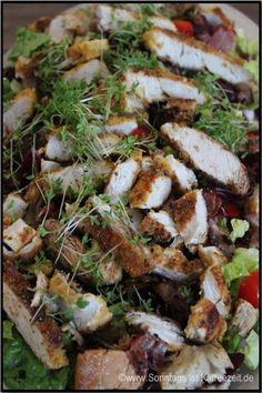 Cesar - Salat mit Paprika alla Jamie Oliver 15 Minuten. Ein Rezept ...