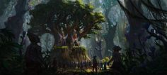ArtStation - Forest throne, Piotr Dura