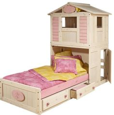For Girls Only Secret Clubhouse Bed.  So cool :)