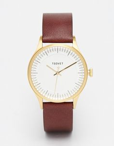 Image 1 ofTsovet Leather Strap Watch