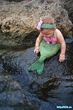 baby mermaid, how cute!