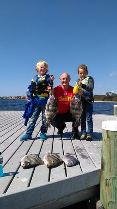 we put the hurting on the donkeys of the sea  all fish between 5 to 7 lbs  love to see the look on happy kids faces