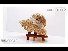 How to crochet hat([Eng sub)/かぎ針帽子/蕾丝帽子- Bonnet Crochet, Crochet Cap, Crochet Home, Crochet Crafts, Crochet Projects, Free Crochet, Crochet Hat Tutorial, Crochet Beanie Pattern, Crochet Tutorials