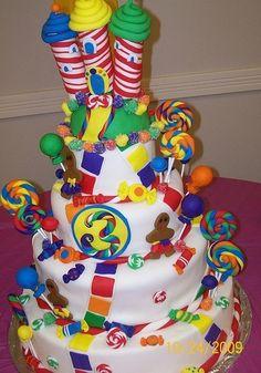 Candy land  theme  birthday