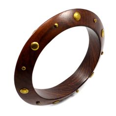 Brown Color Wooden Bangle For Women By Silvesto India Bangles on Shimply.com