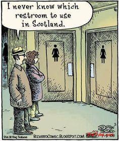Restroom in scotland