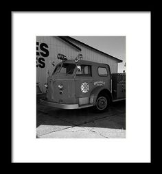 Mid Century Hoosierville Fire Dept Engine - From the photography studio of Scott D Van Osdol available at fineartsamerica.com
