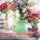 Simple Washi Tape Vases #SpringColors/great reuse