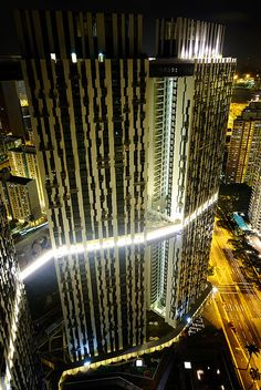 Pinnacle@Duxton at Night - Singapore