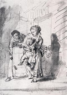 Child In A Tantrum - Rembrandt  - Completion Date: c.1635