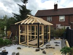 Tea house roof almost finished. #teahouse #Japanese