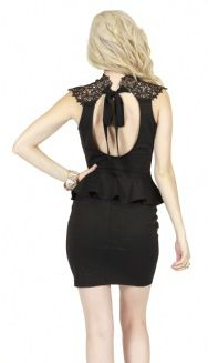 I love this dress by Angl. ♥ Lace Tie Back Peplum Dress. Back.