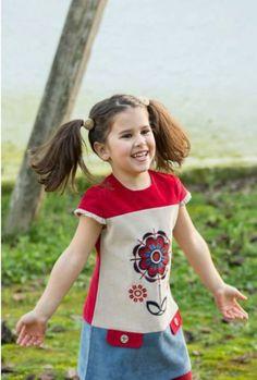Vestido micropana con serigrafía - Ye-ye moda en Erizzos Marketplace de tiendas para niños de 0 a 14 años