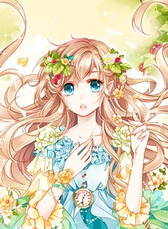 Find images and videos about art, anime and flowers on We Heart It - the app to get lost in what you love. Anime Chibi, Manga Anime, Manga Girl, Anime Elf, Manga Kawaii, Girls Anime, Kawaii Anime Girl, Beautiful Anime Girl, I Love Anime