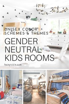 Gender neutral kids rooms are not just for babies; as children grow up they may be sharing a roomwith their opposite sex sibling for a while. Maybe you're trying to steer clear of the Disney