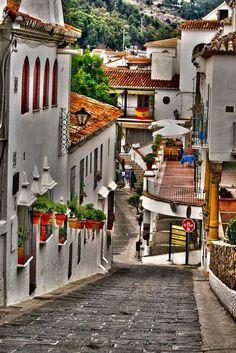 Steep Hill, Mijas, Spain photo via cristy