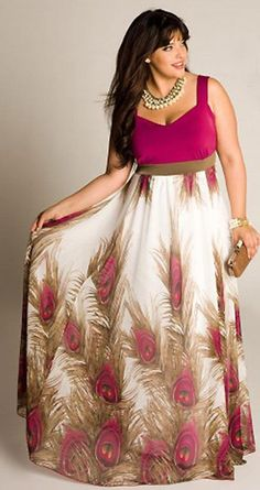 vestido estampado (talla grande)