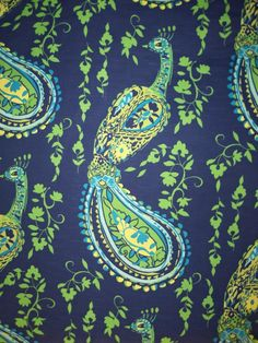 gorgeous peacock fabric!