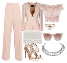 Peach, White & Diamonds by carolineas on Polyvore featuring polyvore, fashion, style, Alexander McQueen, Giorgio Armani, STELLA McCARTNEY, Aquazzura, Proenza Schouler, Cartier and clothing