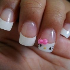 i don't like hello kitty, but i like these nails!