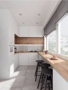 5 Inventive Hacks: Minimalist Kitchen Bar Pendants colorful minimalist home chairs.Cozy Minimalist Kitchen Interior Design minimalist home office life. Home Decor Kitchen, New Kitchen, Home Kitchens, Kitchen Ideas, Apartment Kitchen, Modern Kitchens, Kitchen White, Awesome Kitchen, 1960s Kitchen