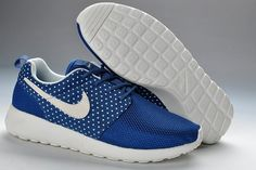 buy online 1a91d c2815 Nike Roshe Run Dames Blauw Wit Med Wit Prickar,HOT SALE! Nike High Tops