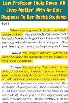#Law #Professor #Epic Response #Racist #Students