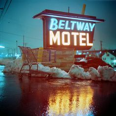 Beltway Motel by Daniel Regner.   --I ate here, haha. It was across from my Wal-Mart and Home Depot once you drove out of Pigtown and into the county. They didn't have soap in their bathrooms. Among other details I'm trying to forget..lol.