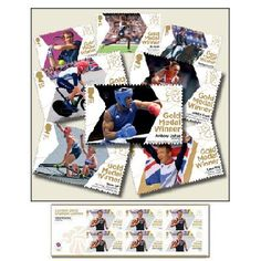 Large image of the Team GB Gold Medal Winner Miniature Sheets - Complete Set