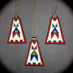 Indian Beadwork, Native Beadwork, Native American Beadwork, Bead Loom Patterns, Peyote Patterns, Beading Patterns, Native Indian Jewelry, Beaded Earrings Native, Beaded Jewelry
