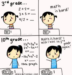 There's nothing I hate more than 9th grade Algebra.