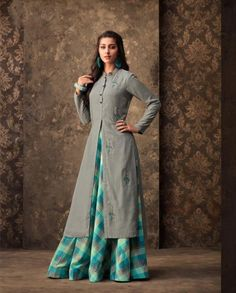 Wholesale Fancy Festival Wear Muslin Embroidered Kurthi With Printed Lehenga Designs For Dresses, Dress Neck Designs, Blouse Designs, Kurti Sleeves Design, Kurta Neck Design, Indian Designer Outfits, Designer Dresses, Kurta Skirt, Dress Skirt