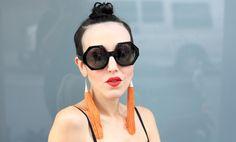 Bold....♥ Michelle Harper in 'Hex' Oliver Goldsmith Sunglasses