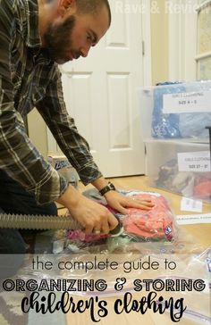 The struggle over how to store and organize children's clothing so we could make good use of hand-me-downs used to keep me up at night. Not anymore thanks to The Complete Guide to Organizing and Storing Children's Clothing #ZiplocSavesSpace #ad