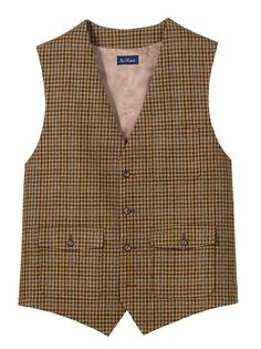 Amazon.com: Paul Fredrick Men's 100% Wool Flannel Check Vest: Paul Fredrick