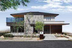 名取展示場 Building Design, Building A House, Kingston House, 2 Storey House Design, Contemporary Building, Japanese House, House Goals, Minimalist Home, Exterior Design