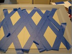 scotch blue harlequin pattern