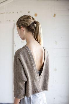 pen back cozy sweater
