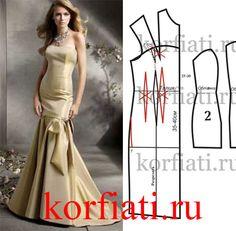 Выкройка платья годе