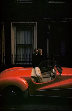 Photo: Inge Morath. London, England, 1953. For those interested, the car is a 1950 Alvis TB 14.