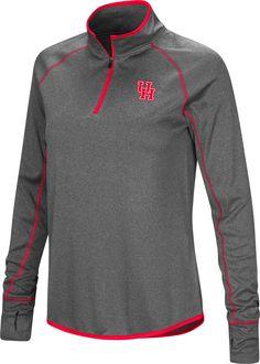 Colosseum Women s Houston Cougars Grey Shark Quarter-Zip Shirt 648b08997