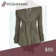 """Coming soon! Stylish Tie Front Draped Coat Like to bookmark to be notified when it comes in! Perfect for the transitional fall weather coming up, this stylish coat features a tie front, asymmetrical bottom and draping that is sure to get you compliments!  Polyester material. Bust about 31.5"""", Length about 27.6"""" MCMD Jackets & Coats"""