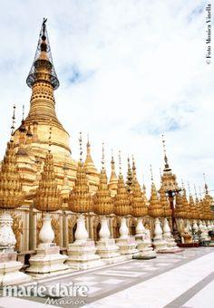 Birmania controcorrente. Le guglie merlettate della Shwesandaw, la pagoda dorata del sito di Pyay.