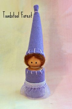 Purple Princess Peg Doll  Waldorf Inspired by TheToadstoolForest