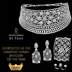 This sparkling piece by Ghanasingh Be True was shortlisted in the Diamond Vivaah Jewellery of the Year category in the Retail Jeweller India Awards, '15