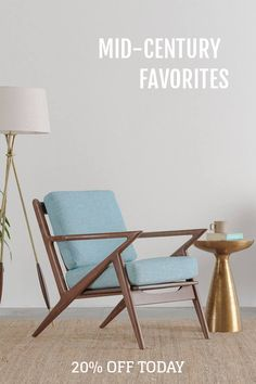 Timeless, comfortable and effortlessly elegant, these mid-century modern chairs make the ultimate showpiece for any room. For a limited time only we're offering all seats, sofas and bedroom furniture for 20% off. Sale ends 11/13. Shop today and enjoy free returns, 365-day home trial & a lifetime warranty!